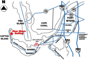Directions from Florida to sail a charter boat